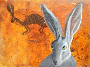 Jack Rabbit with Petroglyph