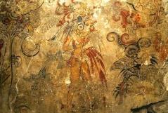 A painting from a maya codex.