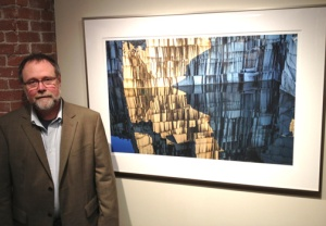 Don Ross at the Jackson Gallery opening in Middlebury, Vermont.